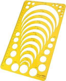 AMLESO Réguas de desenho de plástico estênceis para desenhar artigos de papelaria redondos