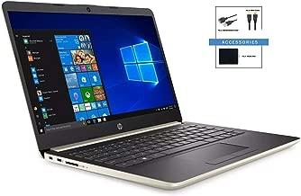 2019 HP Slim 14 inch Diagonal HD WLED-Backlit Laptop w/ Accessories | AMD Ryzen 3 3200U Processor | 8GB DDR4 | 256GB SSD | Windows 10 Home in S Mode | Pale Gold
