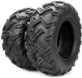 Set of 2 ATV/UTV Tubeless Tires LRC 25x10-12 Rear Left Right 6PR Rubber P306 Load Range C bias tire 25/10 12 black