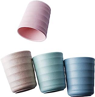 UPSTYLE - Taza de plástico de bambú biodegradable y