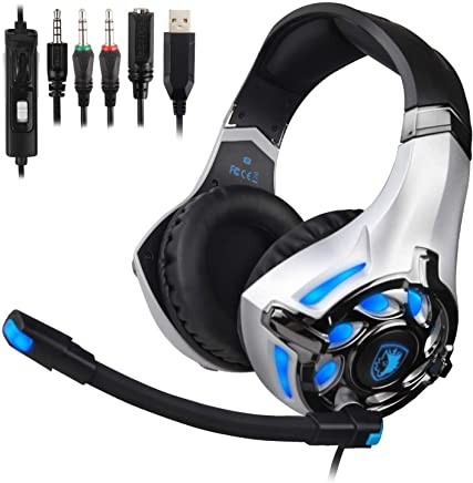 dd82b9f62ee SADES SA822T Stereo Gaming Headset for Xbox One,PS4,PC,Controller,Surround