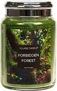 Village Candle Forbidden Forest 26 oz Glass Jar Scented Candle, Large
