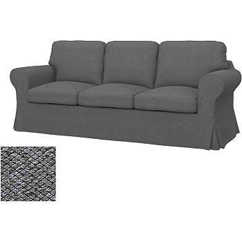Soferia IKEA EKTORP Funda para sofá Cama de 3 plazas, Nordic Grey