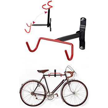 Bike Bicycle Wall Mounted Rack Storage Hanger Holder Hook Metal Foldable A0U0