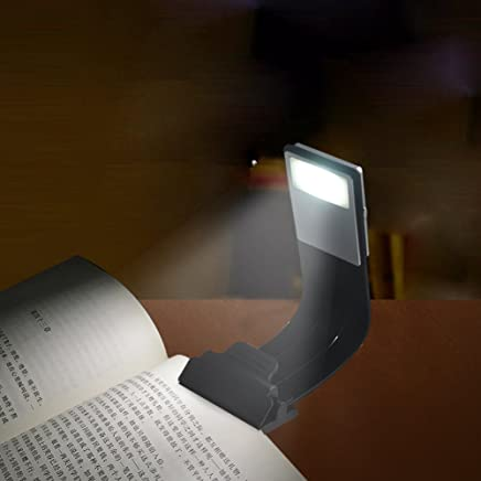 LED Clip Reading Book Light,INHDBOX 4-Level Adjustable Brightness Flexible Reading Lamp, Clip On for Kindle, Book, ipad and More