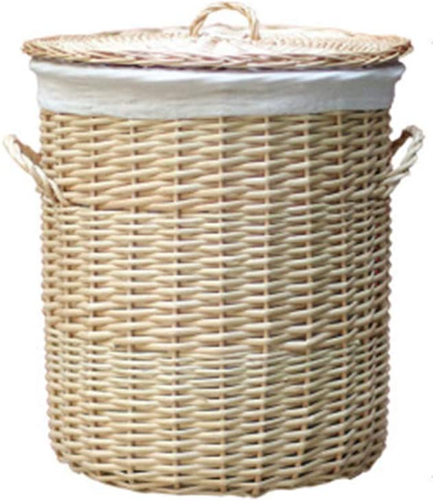The rattan handmade Max 71% OFF laundry basket with Ranking TOP16 detachable a equipped is