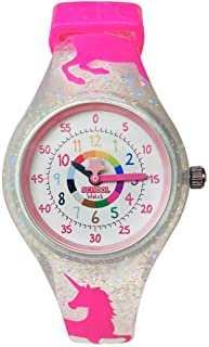School Watch (Unicorn) - Teach Your Child to Tell Time in 5 Minutes Thanks to The Most Intuitive Dial! Hypoallergenic Kids Silicone Watch with with Shock Resistant Japan Movement & Battery