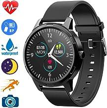 Lucky-M Smart Watch Fitness Tracker Smart Watch IP68 Waterproof Heart Rate Tracker Sleep Monitor, Step Counter, Activity Smart Sports Watch for Kids Women and Men