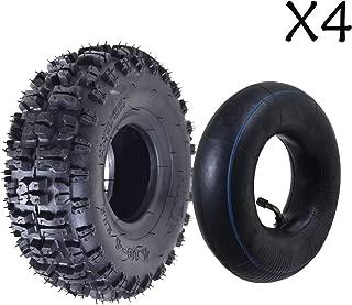 ZXTDR Pack of 4 Tire and Inner Tube 4.10x3.50-4