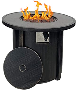 "Propane Gas Fire Pit Table,Summerville 32"" Round Gas Fire Pit Outdoor Fire Bowl Backyard Smokeless Firepits Patio Heater with"