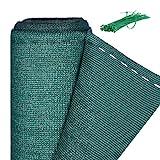 Relaxdays Zaunblende, Sichtschutz für Zaun & Balkongeländer, HDPE Gewebe, UV-stabilisiert, wetterfest, 1,5 x 50 m, grün