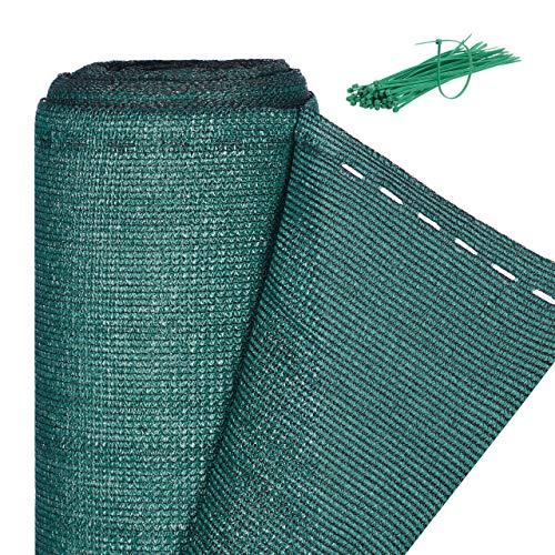 Relaxdays, 2 x 25 m, Verde Panel de ocultación de jardín, Rollo de Aislamiento, HDPE, Protección Solar