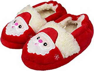 Tirzro Little Kids/Girls Soft Warm Slippers Toddler Indoor Cute Slip-on Shoes