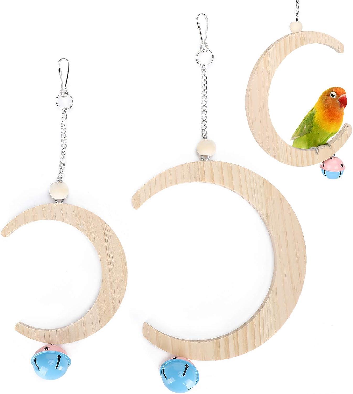 Komopesu Indefinitely Sale SALE% OFF Bird Natural Wood Swing Hammock 2pcs Ha Toys