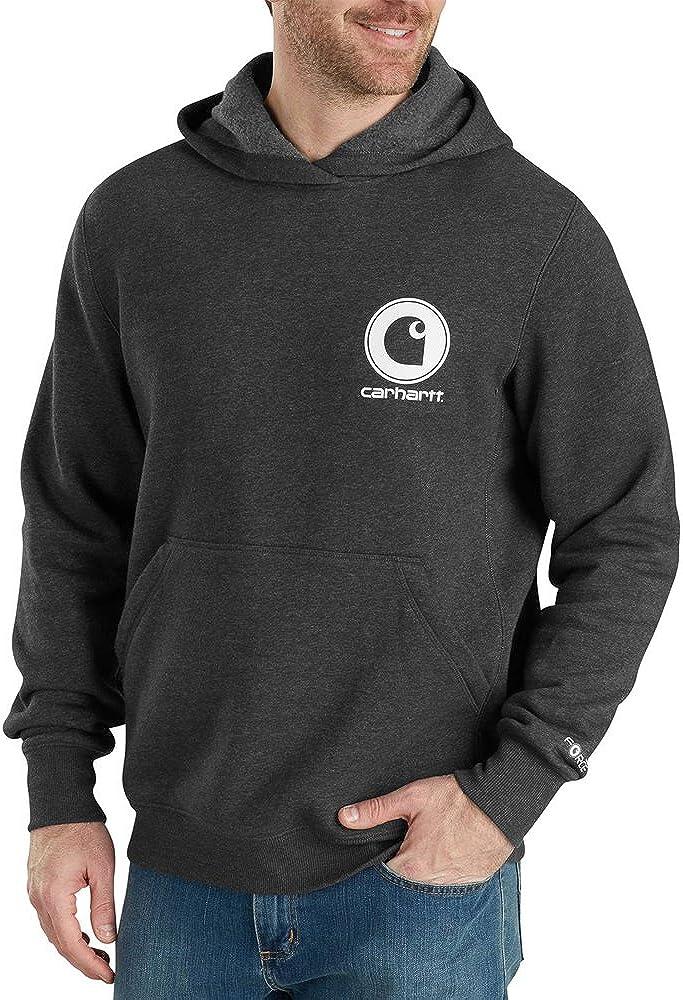 Carhartt Men's 103453 Force Delmont Pullover Hooded Sweatshirt