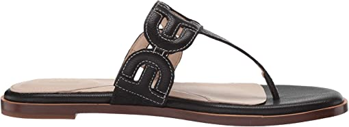 Black Leather/Tonal Heavy Guage Stitch/Black Stack Leather