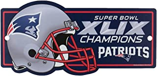 WinCraft New England Patriots Official NFL 11 inch x 17 inch Super Bowl 49 Champions Reserved Parking Sign by 006011
