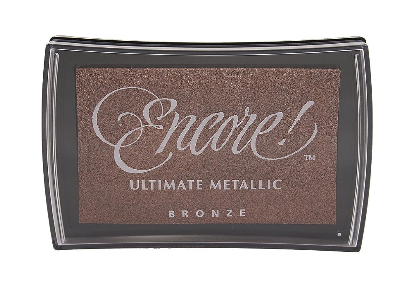 Tsukineko Full-Size Encore Ultimate Metallic Pigment Inkpad, Bronze