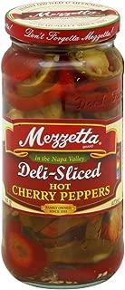 G L Mezzetta Peppers, Hot Cherry, Slcd, 16-Ounce (Pack of 6)
