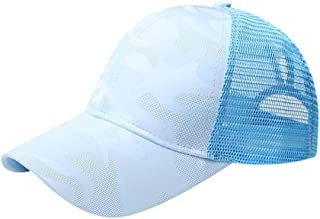 Ms horsetail baseball cap cotton baseball cap after opening the solid air-permeable cap sun shade Sports Casual Hat (Color...