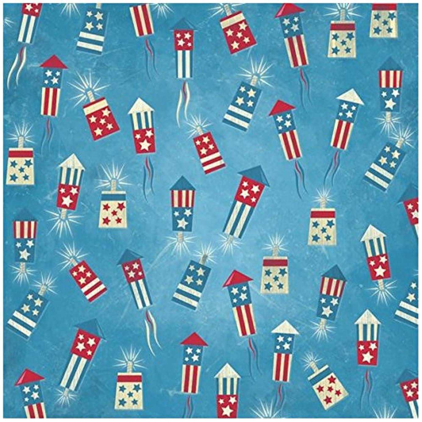 KAREN FOSTER Design Scrapbooking Paper, 25 Sheets, Fireworks Stand, 12 x 12 qso7396068