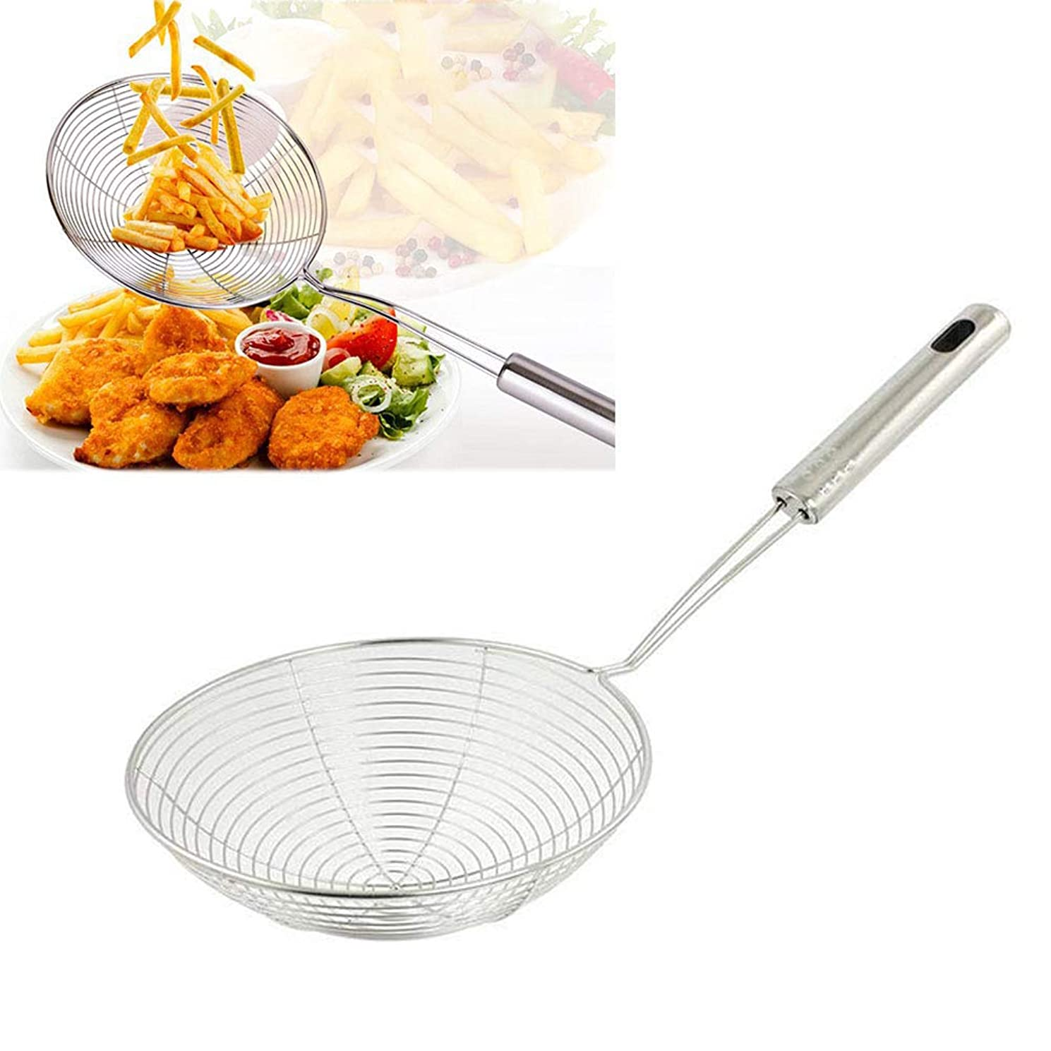 Stainless Steel Frying Food Spoon Wire Skimmer Mesh Strainer Cookware Filter?Kitchen Tool