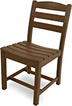 product image for POLYWOOD TD100TE La Casa Café Dining Side Chair, Teak
