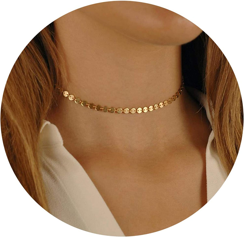 Lcherry Dainty Choker Necklace Pendant Y 5 ☆ very popular Neckla Layered Luxury goods