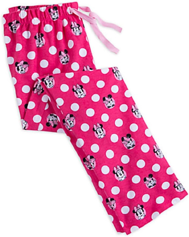 Disney Store Minnie Mouse Ladies Lounge Pants Sleepwear PJ's Pink New