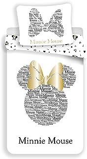 Disney Minnie - Juego de funda nórdica de algodón