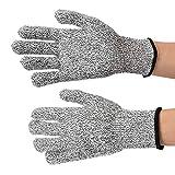 Gants résistants aux coupures, gants de sécurité haute performance de qualité alimentaire pour le niveau 5...