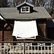 Nice Home(ナイスホーム) 日除けシェード オーニング UVカット 1.8×1.8m アイボリー【3年間の安心保証】