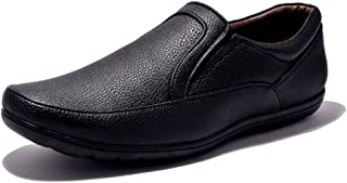 Sir Corbett Men's Black Synthetic Leather Formal Shoes (Black, 8)