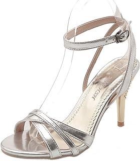 BalaMasa Womens ASL05914 Pu Stiletto Heels