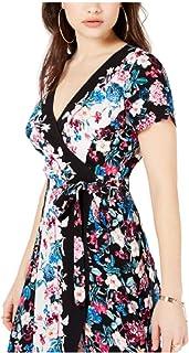 GUESS Women's Bouquet Floral Wrap Dress