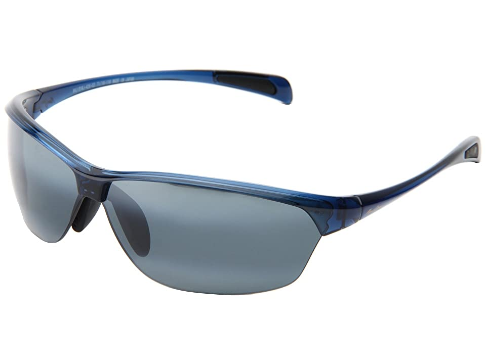 Maui Jim Hot Sands (Blue/Neutral Grey) Plastic Frame Sport Sunglasses