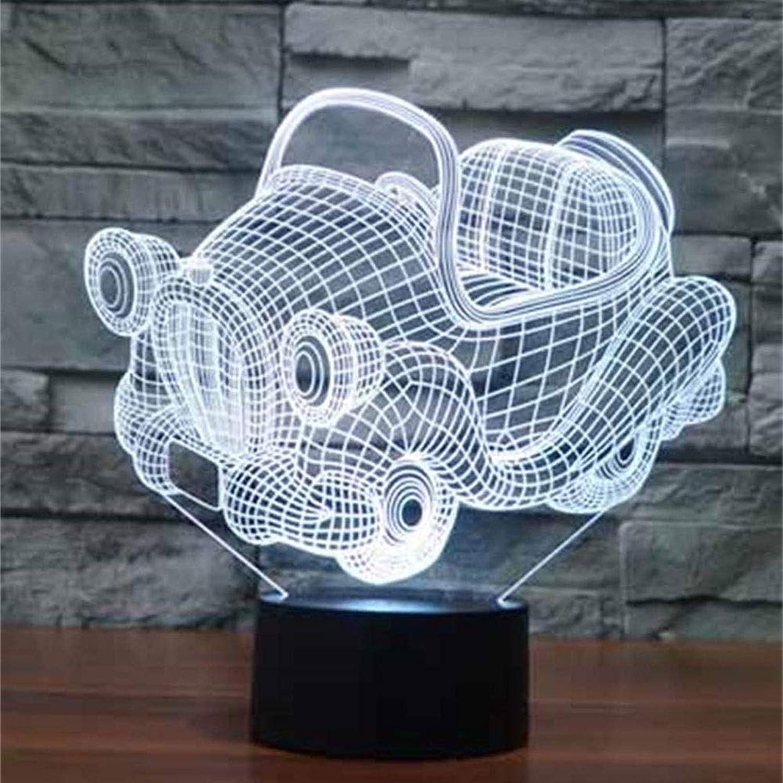 HULUWA Nachtlicht für Kinder, Fernbedienung Auto 3D Bunte Lichter Fernbedienung Touch LED Baby Nachtlicht, 7 Farben ndern, Stillen Kinderzimmer Nachtlampe für Kinderzimmer Schlafzimmer