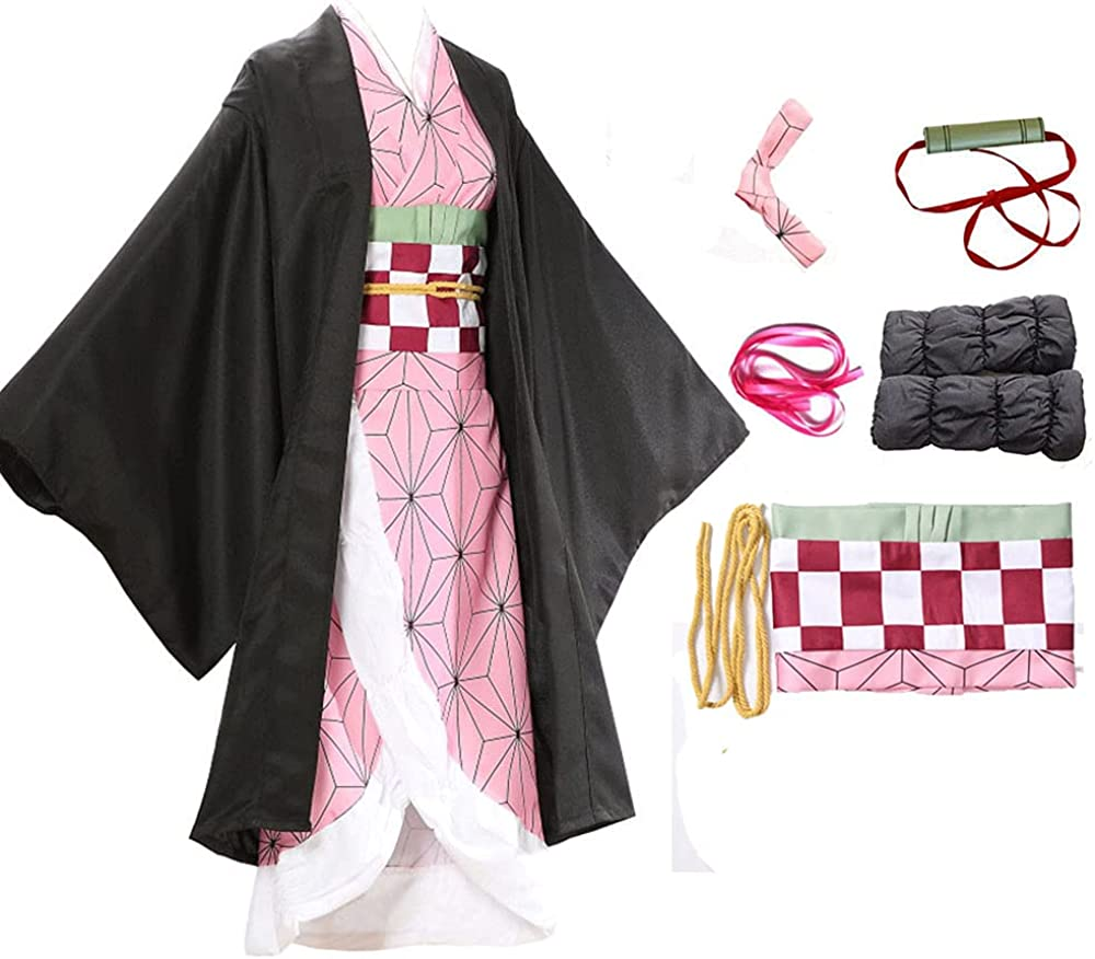 Quality inspection 2021new shipping free shipping Anime Cosplay Costume Kimono Dress Full Set Outfit With Mouthpie