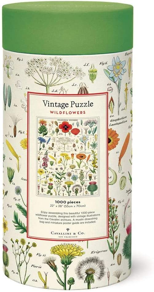 Cavallini 1000pc Jigsaw Puzzle ~  Botanic Garden