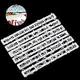 Windyeu Fondant Ausstecher Set Buchstaben Klein Kuchenform Silikon Pralinen Form für Zuckerguss und Backen Torten Dekoration (Großbuchstaben)