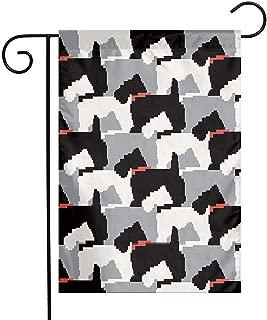 RJ Unique Seasonal Garden Flags,Banderas Negras del Jardín De Scottie Dogs Banderas Superiores del Jardín Casero para La Decoración Casera