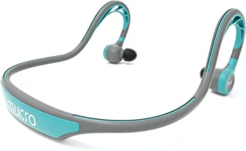 MUCRO Wireless Bluetooth Earbuds Behind The Neck, Running Earphones with Sweatproof, Built-in Stereo Mic for Gym Workout(Blue)