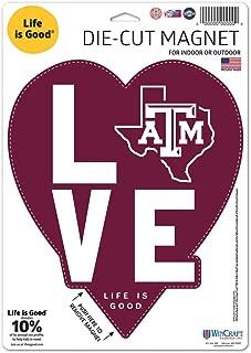 NCAA 5インチ x Life is Good Love ロゴ マグネット 冷蔵庫 車 5x5 Wincraft