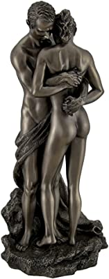 Resin Statues The Lovers Bronze Finished Loving Touching Couple Nude Statue 5 X 10.75 X 4.5 Inches Bronze