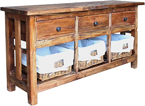 Sideboard 100 Solid Reclaimed Wood Buffet Table 39 4 X11 8 X19 7 By BLUECC