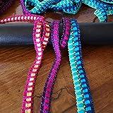 Mt.30 Cinta de encaje elastico de colores Entredos producción italiana ideal para costura creativa, bricolaje, scrapbooking - multicolor