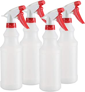 DilaBee – Empty Plastic Spray Bottle – 16 oz Spray Bottles for Cleaning Solutions - 100% Leak Proof with Mist Stream and Off Trigger Settings - for Home, Garden, Chemicals, and More (4 Pack 16 Oz)