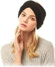 by you Women's Soft Knitted Winter Headband Head Wrap Ear Warmer (Twisted-Black)