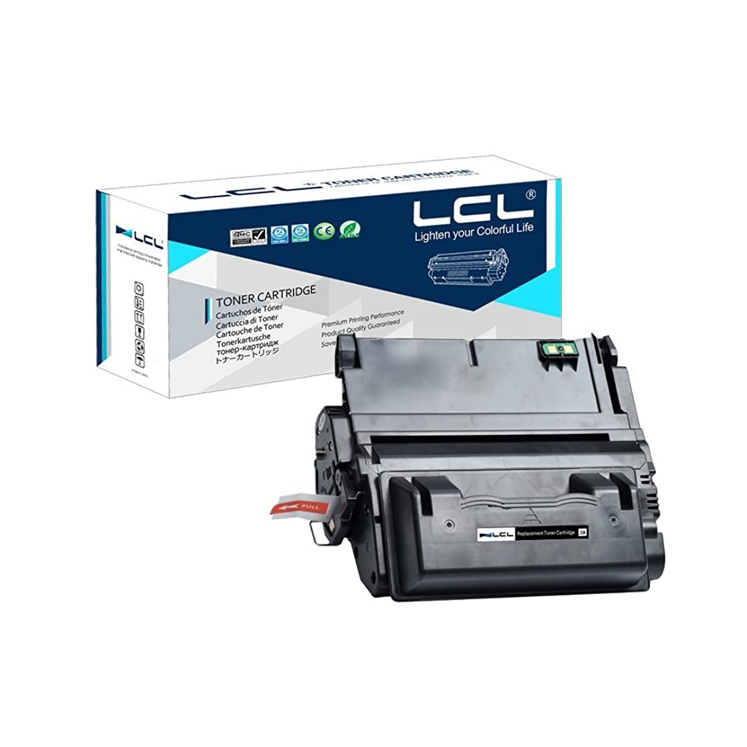 LCL Compatible Toner Cartridge Replacement for HP 42A 42X Q5942A Q5942X Q1339A Q5945A 20000 Page 4200 4300 4250 4350 4345 (1-Pack Black)