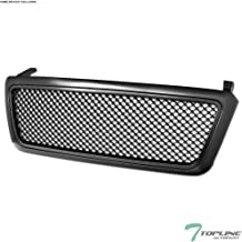 Topline Autopart Matte Black Mesh Front Hood Bumper Grill Grille ABS For 04-08 Ford F150